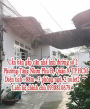 Cần bán gấp căn nhà hxh đường số 2, Phường Tăng Nhơn Phú B, Quận 9, TP.HCM