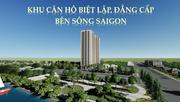 Căn hộ ngay trung tâm TP Thuận An, 3 mặt view sông SG giá từ 890tr/căn  VAT