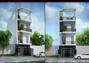 Nhà 3 lầu giá mềm sổ riêng khu Bình Chánh Long An - Nhà rộng 90m, 1 trệt 3 lầu, 5 ngủ 5 toilet - sau