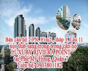Bán căn hộ 2PN, 91m2 , tháp 3, Lầu 11, tại Phú Mỹ Hưng, Quận 7