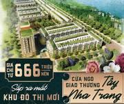 Thời điểm tốt-sổ đỏ từng nền-giá siêu tốt-đất nền KĐT mới phía tây Nha Trang 666Tr/nền