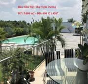 Bán 5.000m2 trang trại nghỉ dưỡng bao gồm biệt thự giáp sông đồng nai và gần phim trường quận 9