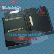 Xưởng chuyên may bìa da giá sỉ, sản xuất bìa simili, bìa trình ký còng, bìa folder da,