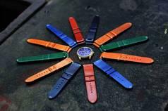 Dây đồng hồ da thật làm hoàn toàn thủ công  handmade  - độc, đẹp, lạ  giá ưu...