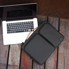 Túi đeo chống sốc 4 cạnh TOMTOC  USA  360  shoulder bags MACBOOK 13  giá tốt