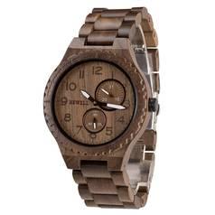 Đồng hồ nam bằng gỗ độc lạ, chất lượng, Đồng hồ đeo tay nam gỗ óc chó chính hãng bewell...