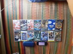 Máy game psp 3000  14 đĩa game gốc