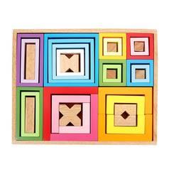 Bộ xếp hình nhiều màu