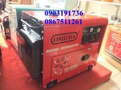 Máy phát điện 5kw giá rẻ- Máy phát điện Oshima 6500 đề nổ, máy dầu bền bỉ- giảm âm- Chuyên...