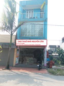 Cho thuê nhà nguyên căn Khánh Tân, Phường Ninh Khánh, TP Ninh Bình