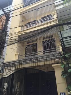 Cho thuê nhà riêng ngõ 92 phố trúc khuê, 4 tầng x 30 m2 đồ cơ bản
