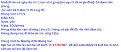 Tìm bạn nữ ở ghép Trương Định - HM