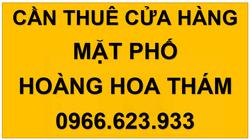 Cần thuê cửa hàng mặt phố Hoàng Hoa Thám, Bưởi, Hà Nội