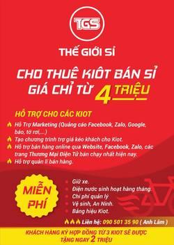 Cho Thuê Kiot Bán Sỉ Quận Tân Bình