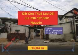 Cho thuê đất sát biển, rộng 416m2  16m X 26,2m  ngay mặt tiền đường Lâm Hoành - Đà Nẵng
