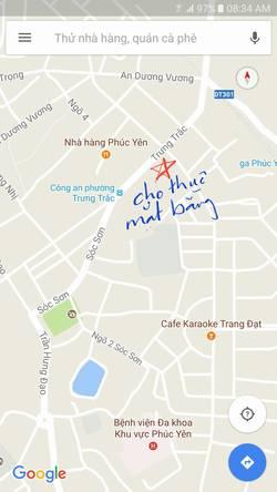 Cho thuê nhà mới xây / mặt bằng kinh doanh trung tâm TP Phúc Yên, Vĩnh Phúc