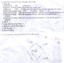 Bán đất mặt tiền QL1A  gần Dốc Sỏi - Bình Sơn , 1.057m2, ngang 35m, giá 2tỷ7