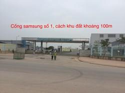 Đất thương mại 50 năm Samsung Thái nguyên