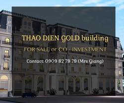 CẦN BÁN hoặc tìm ĐỐI TÁC đầu tư - Thảo điền GOLD căn hộ 9 tầng