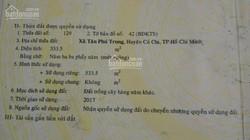 Đất đang làm nhà trọ, 25A, Đường 101, Tổ 15, Ấp Giữa, Tân Phú Trung, H. Củ Chi