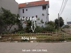 Bán đất biệt thự 196m 2 mặt tiền cột 5