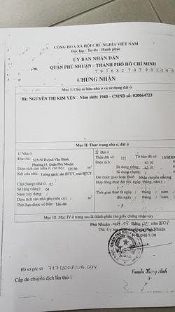 Nhà bán hẻm xe hơi lớn thông thoáng Huỳnh Văn Bánh PN