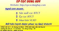 Cần tìm thợ ép cọc ở Thái Nguyên
