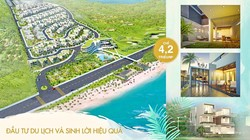 Bán đất nền biệt thự dự án Sentosa Villa 100 view biển, mặt tiền huỳnh thúc kháng 4,3 tr/m2