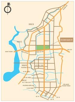 Cần bán lô đất tại dự án Huế Green city  tỉnh lộ 10. Diện tích 105m2, giá 620 triệu, hướng tây