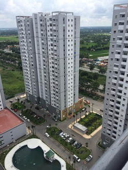 Cho thuê căn hộ chung cư HQC Plaza H.Bình Chánh nhà đẹp thoáng mát,view hồ bơi dt 55m2 2pn 2wc