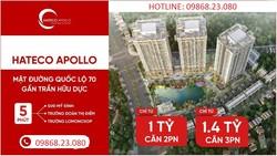 0986823080 -Tôi cần bán căn 3PN, 73m ban công ĐN giá 1,4 tỷ  nội thất,Chung cư Hateco Xuân Phương