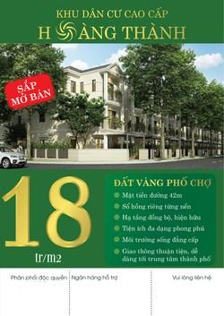 Bán đất nền mặt tiền đường Vĩnh Lộ xã Vĩnh Lộc B, h.Bình Chánh, sổ hồng riêng từng nền, giá 18 trệu
