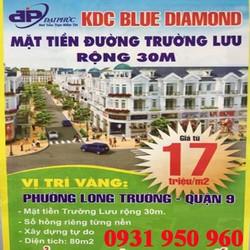 Bán đất mặt tiền DT 80m2, Giá chỉ từ 27 triệu/m2,SHR KDC Đại Phúc Blue Diamond đường trường lưu,Q9