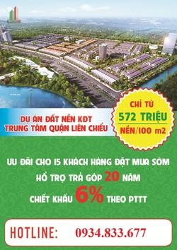 Đất nền giá rẻ Tp Đà Nẵng 300 triệu/ nền LH 0941.450.510