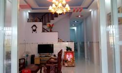 Bán nhà mặt tiền đường Ba Bông, cách chợ Bình Chánh 3,5km