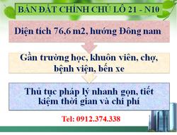 Bán đất chính chủ khu Cống Ngóc - Bến xe Bắc Giang