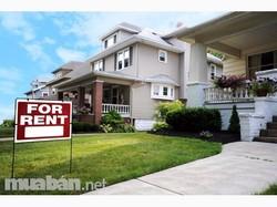 Cho thuê nhà riêng 4 tầng mặt đường Lán Bè