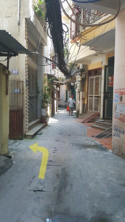 Bán đất thổ cư có nhà 1 tầng khu Văn Cao   Q. Ba Đình   Hà Nội