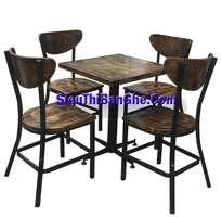 6 Các mẫu bàn ghế chân sắt mặt gỗ đẹp