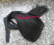 4 Tóc cột, tóc cột phím giả buộc đuôi ngựa bằng tóc thật, tóc nối kẹp