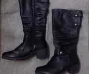 1 Giày Boot Đen  Da  - Chính Hãng