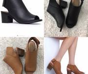 BST Giày cao gót trụ bít chân classic