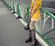 2 Giày boot cổ cao đan dây Mã:GC0184