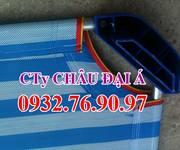 3 Giường cho bé mầm non GN04 - Vải lưới bọc nhựa cao cấp