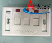 1 Annam Network Chuyên phân phối mặt nạ. ổ cắm hình chữ nhật, vuông chính hãng CommScope 1,2,3,4 port