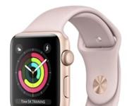 Cần bán apple watch sf3 size 42 màu vàng hồng