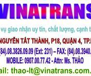 Vinatrans TPHCM - bốc xếp, vận chuyển, đóng gói, đóng kiện gỗ