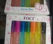 Set Nước Hoa Cây Bút 7 Màu Foci Love You