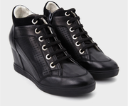 2 Giày Sneakers Độn Gót Nữ Geox- Màu Đen
