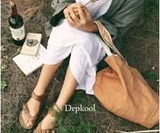 Giày Xoắn Cổ - Da nâu nữ - Depkool
